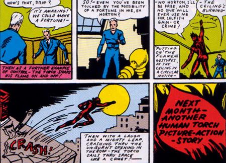 Human Torch (notez le costume bleu) n'aura désormais plus de maître...