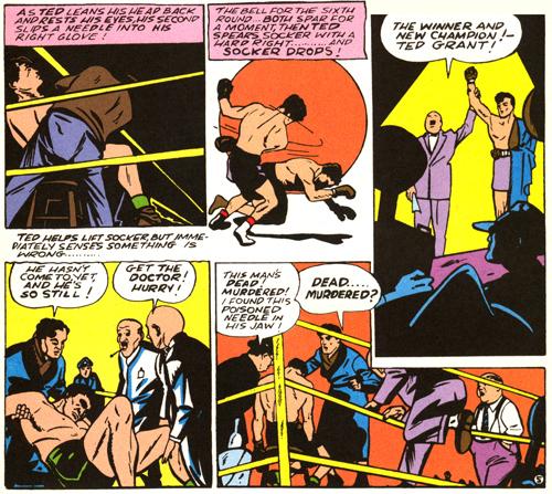 Ted Grant est sacré champion... mais aussi meurtrier par la même occasion...