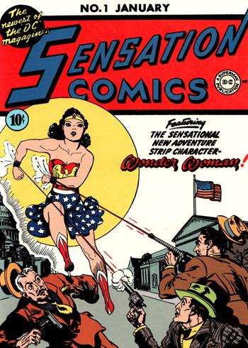 La couverture de Sensation Comics #1... passe complètement sous silence l'existence de Wildcat.