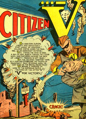 La page d'introduction de Citizen V