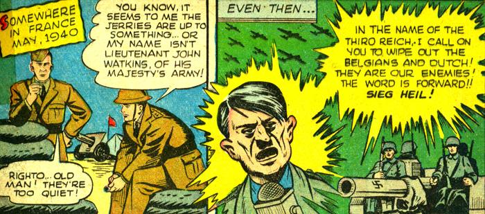 John Watkins devine que les nazis préparent un mauvais coup. Quel limier !