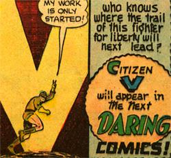 La promesse d'un Daring Mystery Comics qui n'est jamais venu, en tout cas pas sous cette forme.