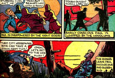 Les Night Riders tabassent Paul Patton.