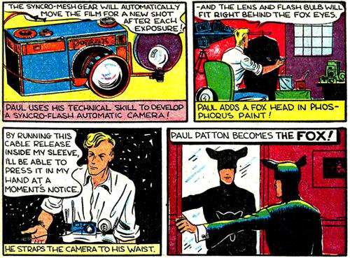 Seul gimmick du Fox : un appareil photo incorporé dans le costume...