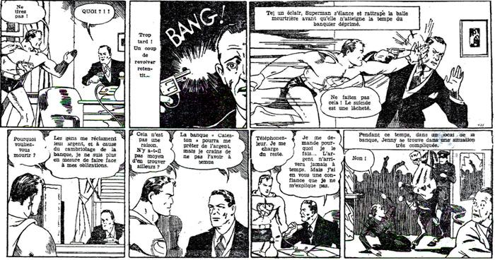 Regardez bien cette page où Superman arrête une tentative de suicide...