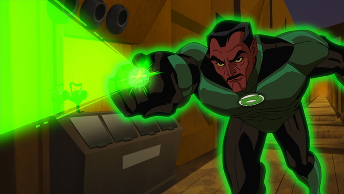 """Sinestro pursues a murderer in """"Green Lantern: First Flight,"""" the all-new DC Universe animated original movie set for distribution July 28, 2009 by Warner Home Video."""