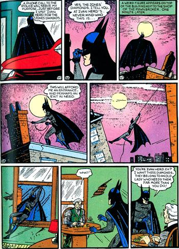 Batman sur les toits... dans la version originelle...