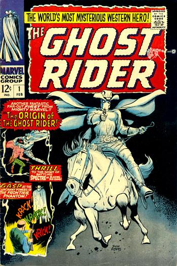 En 1967, le Ghost Rider américain revient, mais ce n'est plus Rex Fury sous la cagoule...