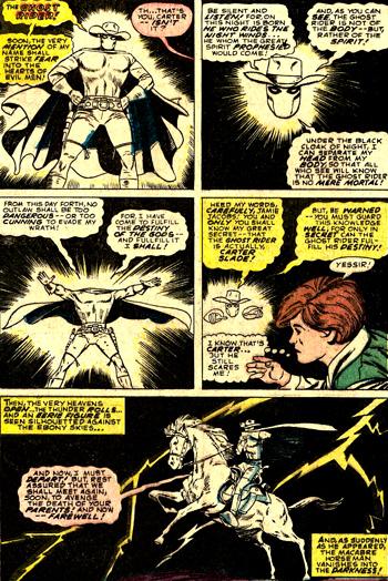 Carter Slade fait la d�monstration de ses faux pouvoirs, tout en jouant � imiter une voix spectrale...