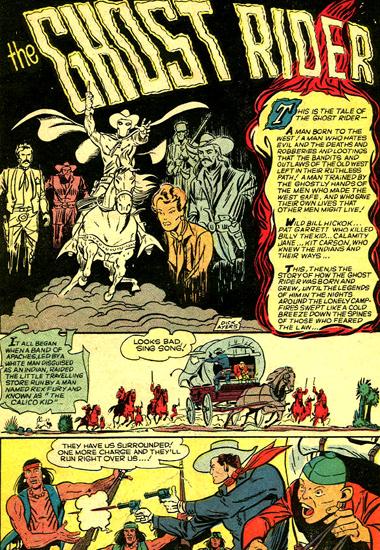 Le Ghost Rider d'avant Marvel, véritable fondateur de plusieurs dynasties directes ou indirectes...