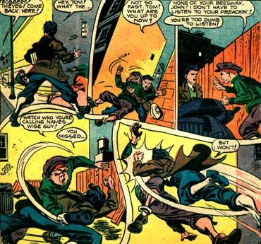 Devant arrêter un malfrat, John Raymond n'a pas la même hésitation qu'un Peter Parker...