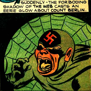 """Le plus étonnant chez le Spider, c'est cet usage d'un spider-signal, sorte de version verte de celui """"inventé"""" plus tard par Spider-Man..."""