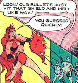 Un bouclier de flammes pour arrêter les balles...