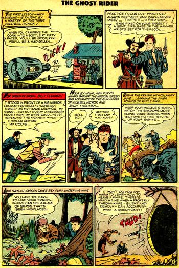Rex Fury est formé par les fantômes des plus grands aventuriers de l'Ouest. Sauf qu'il y a comme un petit problème d'ordre historique...