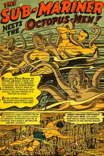 Sub-Mariner contre les Hommes-Pieuvres. Un programme digne d'un film de série Z ?