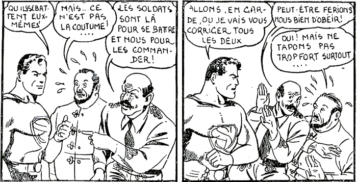 Superman goes to war maquillé