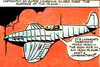 L'avion blindé du Iron Ace...
