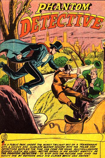 Le Phantom Detective : Un look digne du Fantomas des romans...