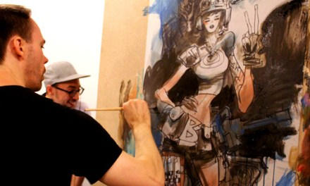 Performance Mike Huddleston chez Comics Records