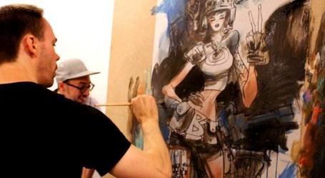 Performance Mike Huddleston chez Comics Records
