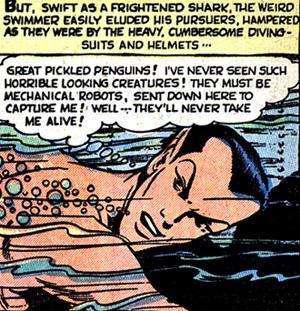 Namor ne réalise pas quel les plongeurs sont vivants...