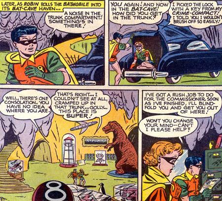 Roberta arrive à s'introduire dans la Batcave, ce qui n'est pas donné à tout le monde...