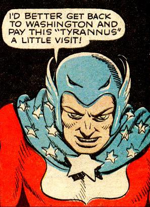Super-American décide d'aller voir Tyrannus