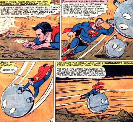 Superman vole... mais en ballon-beast !