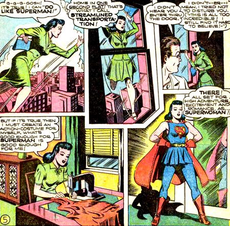 Lois Lane découvre qu'elle peut voler. Elle décide de devenir Superwoman !