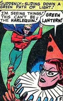 Green Lantern n'en revient pas: Harlequin existe !