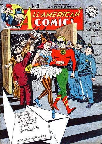 Le presque-mariage d'Harlequin et Green Lantern