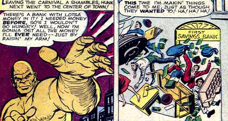 Magneto attaque une banque...