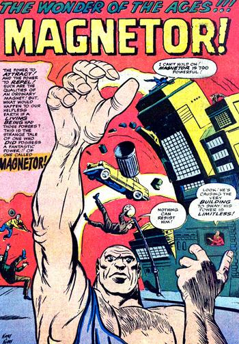 Magneto devenu MAGNETOR dans la réimpression...