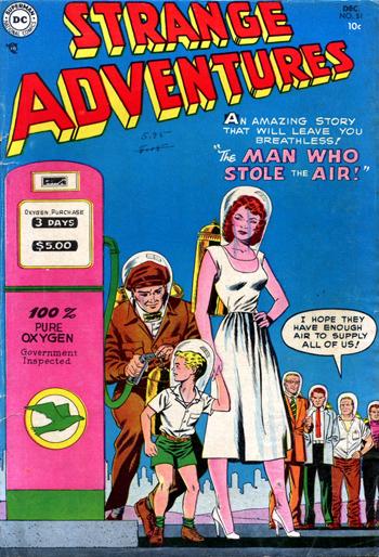 """Strange Adventures #51 (Déc. 1954), une histoire """"à couper le souffle"""""""