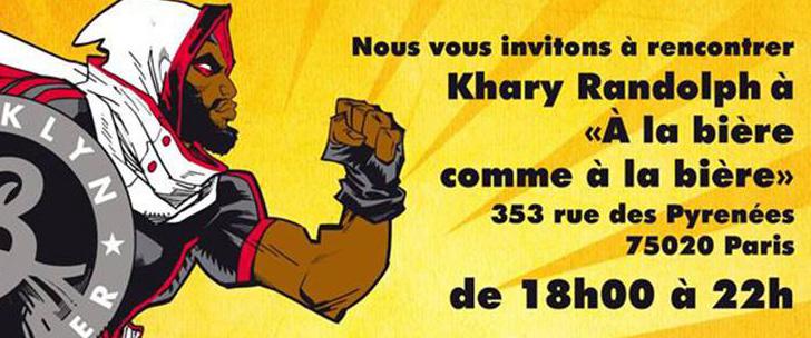 Khary Randolph en dédicace ce jeudi 22 octobre