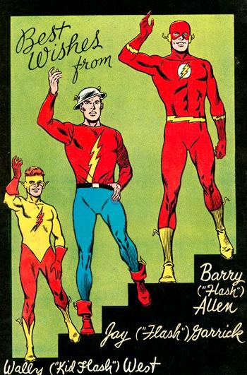 Wally West, Jay Garrick et Barry Allen, Flash chacun leur tour.