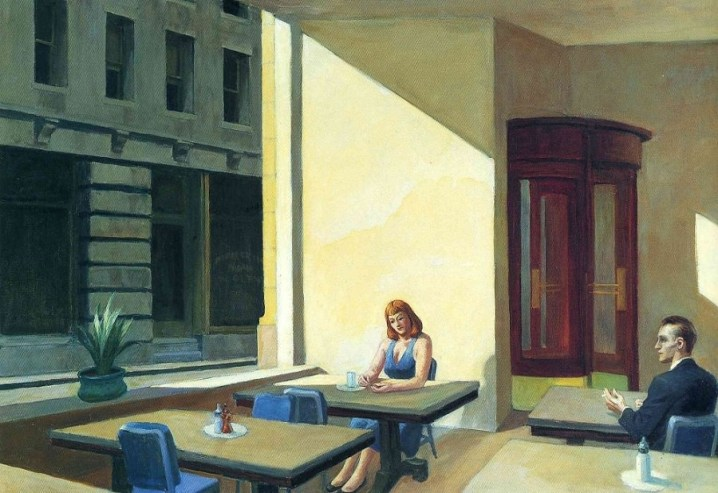 sh vitre hopper sunlight in a cafeteria 1958