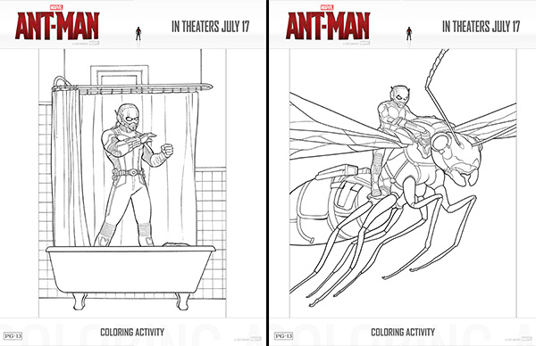 free printables marvel's ant man coloring pages and