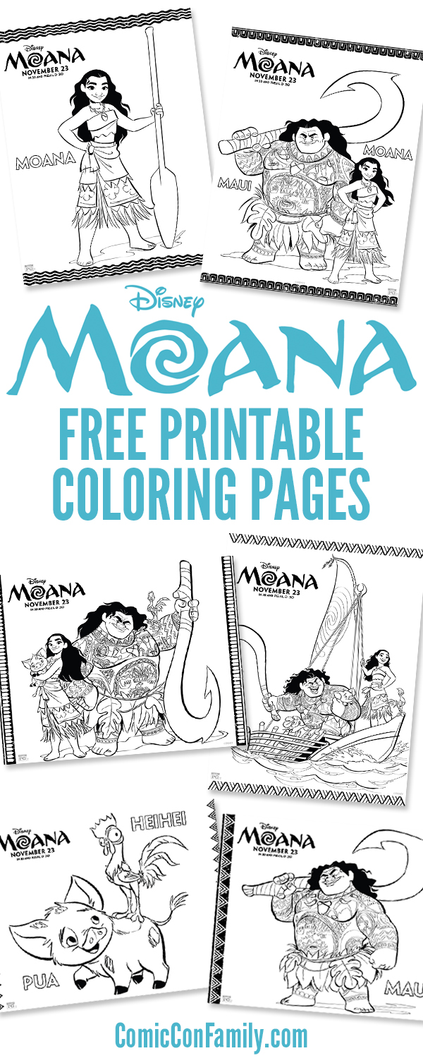 Free Printables Disney Moana Coloring Pages Ic Con Family