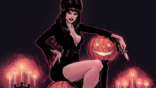 elvira 500x283 Treat yourself to a first peek at Dynamites five new Halloween one shots