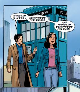 Doctor Who - Tenth Doctor Year 3 Issue 5 - Doctor speaking about how Random and Surprises are good