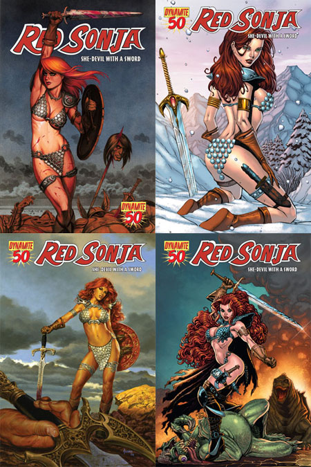 redsonja50 Dynamite Entertainment June 2010 Solicitations