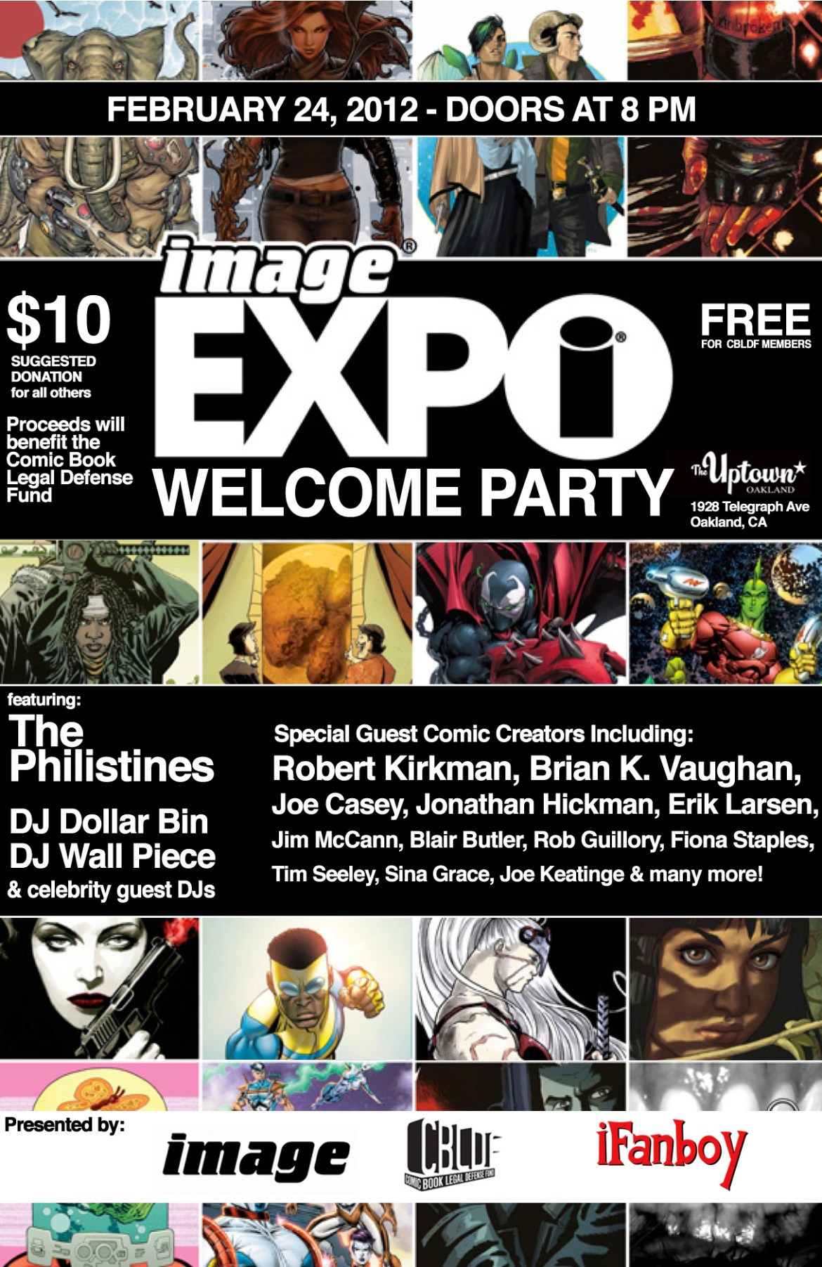 511760485368453 Image Expo Welcome Party to benefit Comic Book Legal Defense Fund