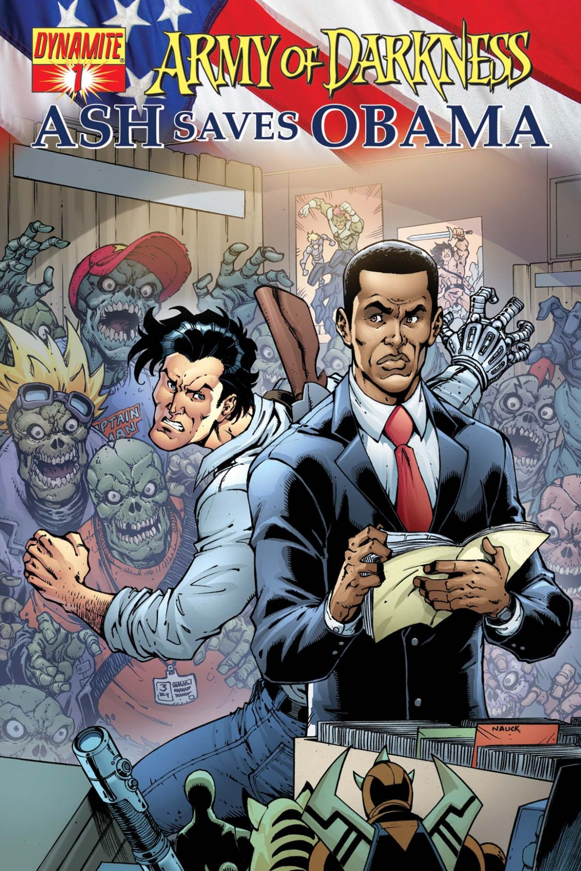 AODObama01covnauk ComicList: Dynamite Entertainment for 08/19/2009