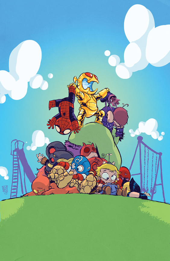 AgeOfUltron_1_VariantYoung Skottie Young brings the babies to AGE OF ULTRON #1