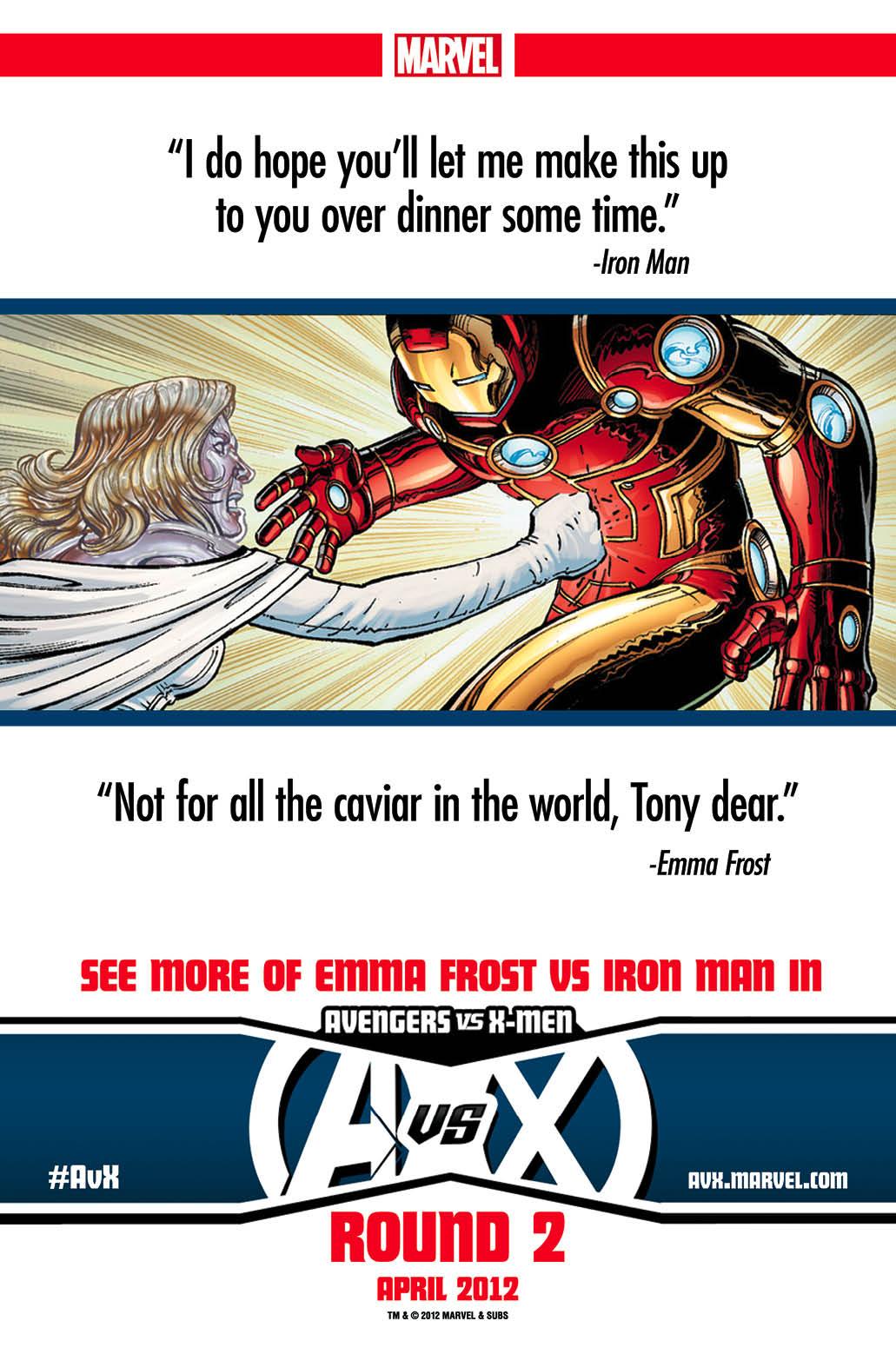AvX2_Teasers4 Emma Frost gives Iron Man diamonds in AVENGERS VS X-MEN #2
