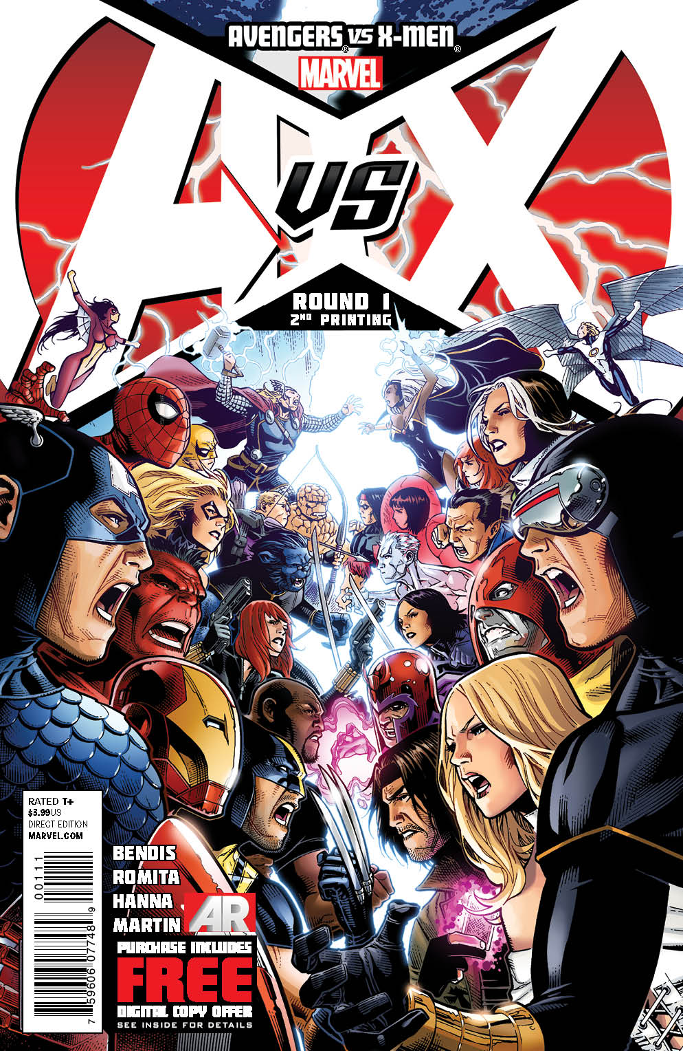 AvengersVSXMen_1_SecondPrintingCover AVENGERS VS. X-MEN second printings rushed to stores