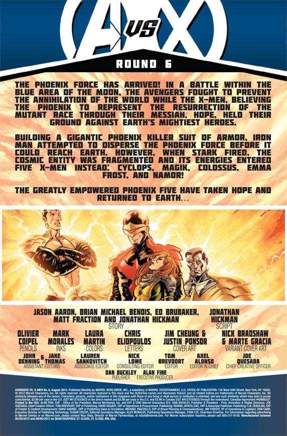 AvengersVSXMen_6_Preview1 The Phoenix Force initiates Pax Utopia in AVENGERS VS X-MEN #6