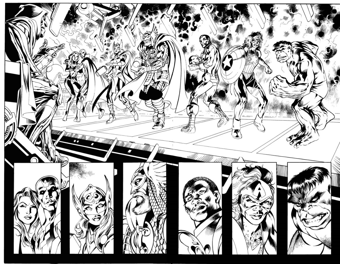 Avengers_Ultron_Forever_1_Interior_Preview_Inks Time-travelling Avengers face ULTRON FOREVER this April