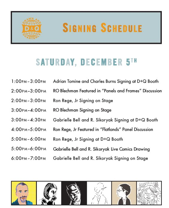 BBCF09_schedule-739575 Drawn and Quarterly at the Brooklyn Comics and Graphics Fest